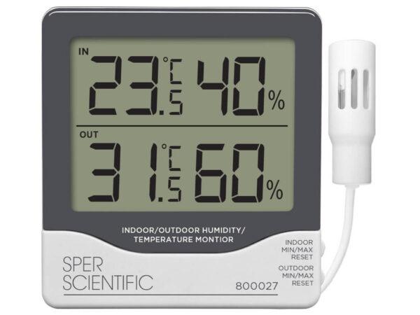 Đồng hồ đo nhiệt độ độ ẩm 800027 Sper Scientific