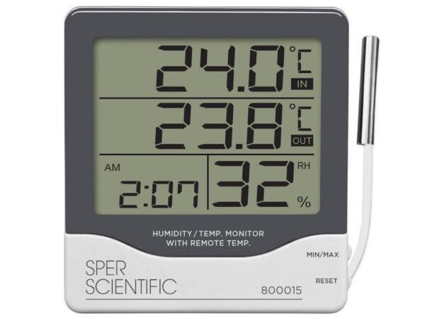 Đồng hồ nhiệt độ, độ ẩm 800015 Sper Scientific